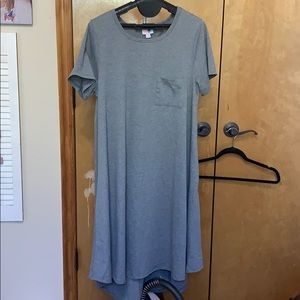 Mid calf T-shirt dress, grey